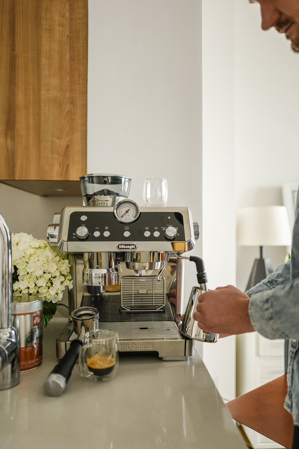 Alex is obsessed with his new coffee machine! It honestly makes the best coffee ever - no more $5 lattes for us!
