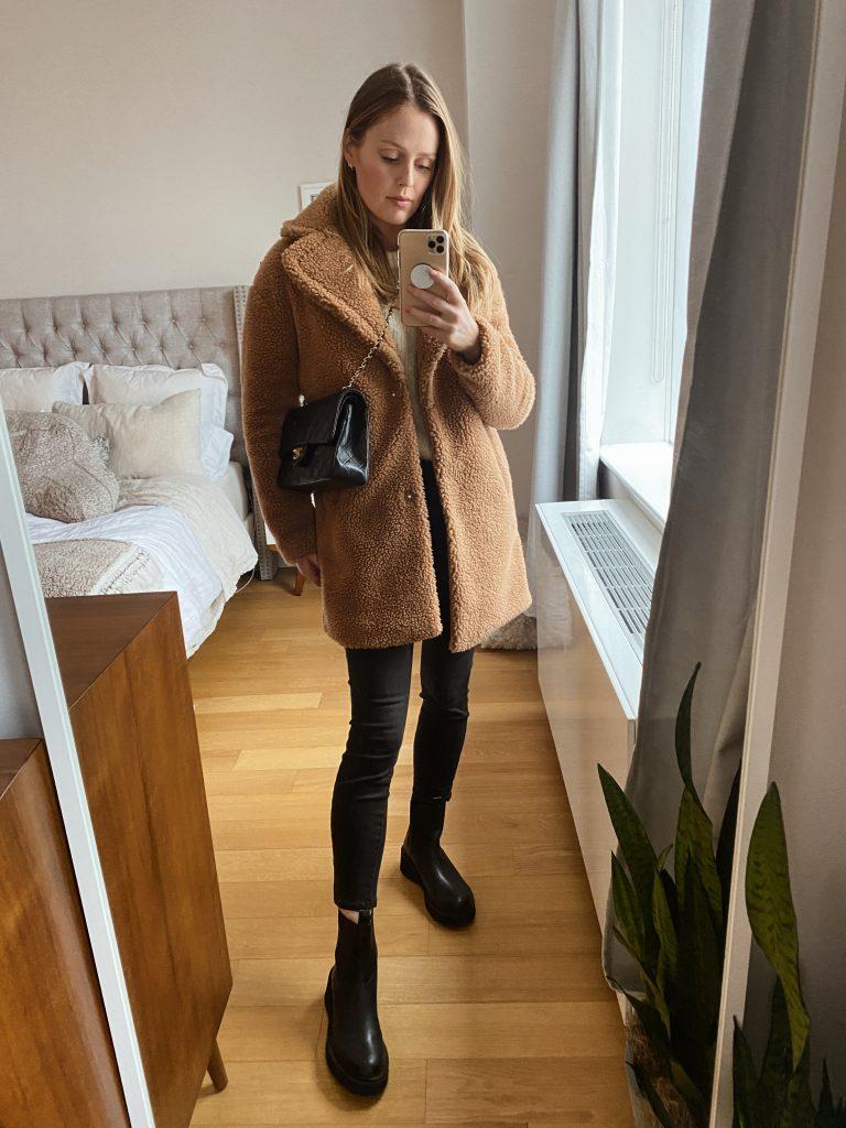 Abercrombie sherpa coat
