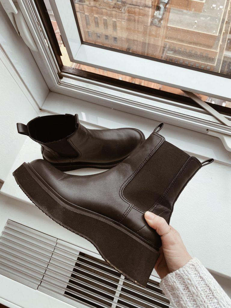 mango chunky Chelsea boots
