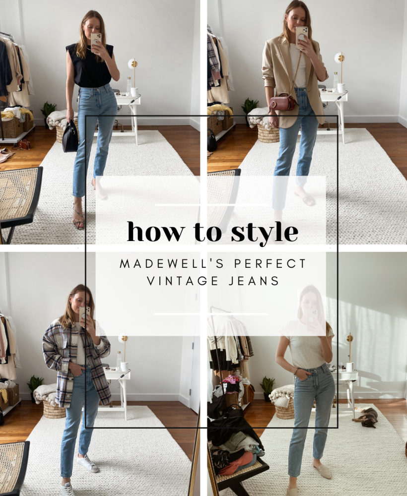 how to style madewell jeans