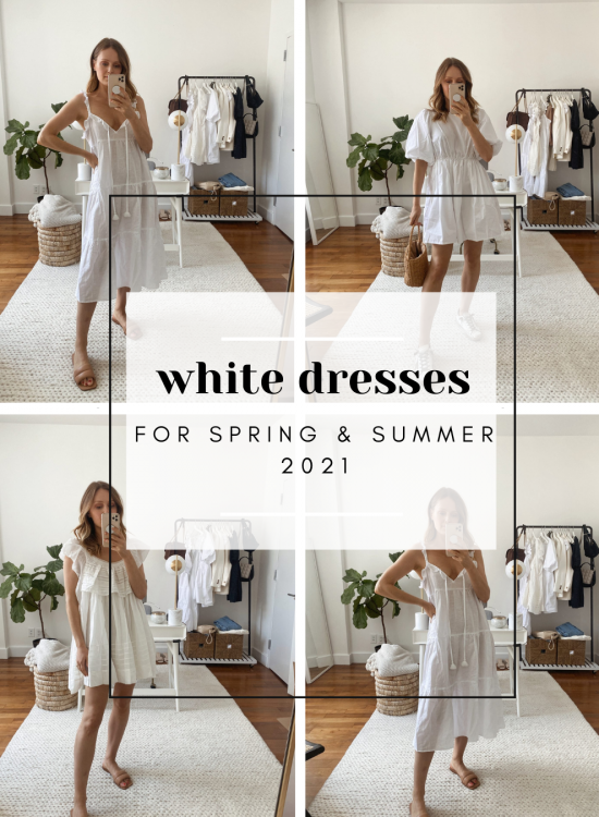 white dresses for spring and summer 2021