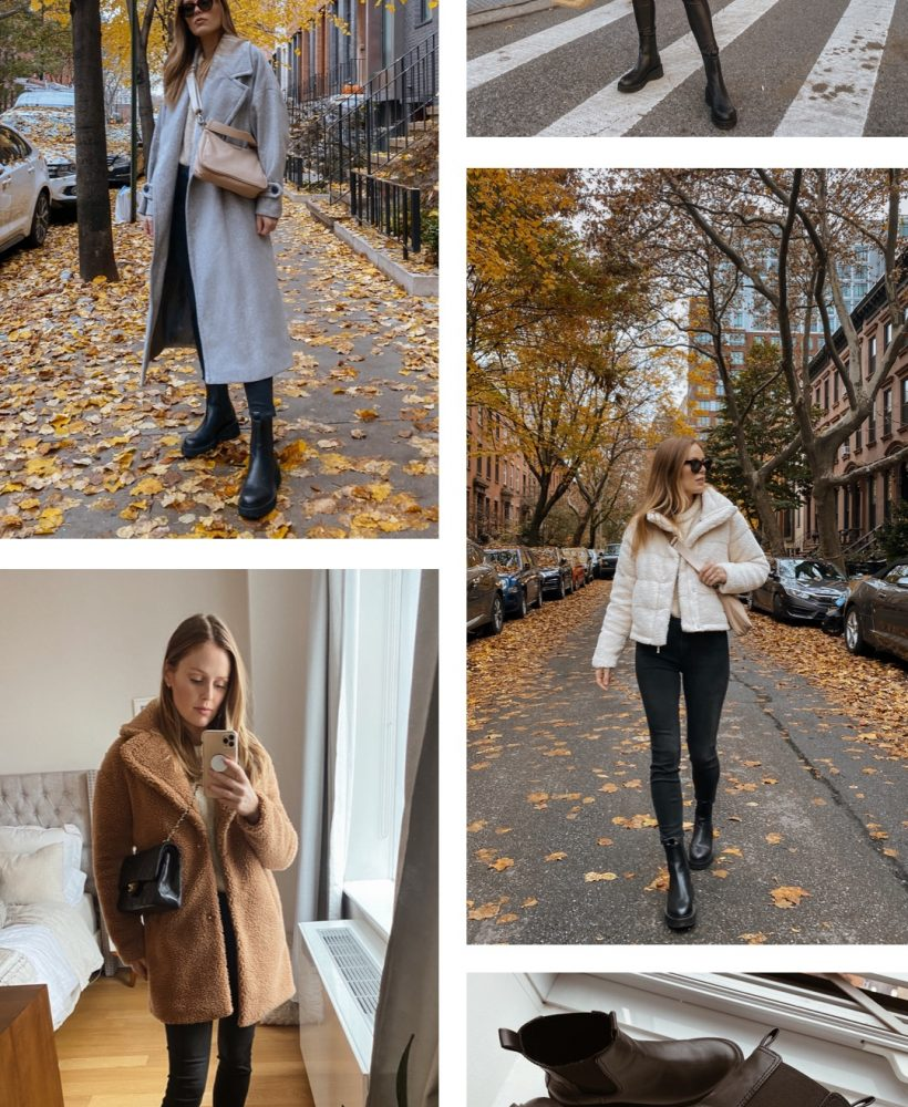 how to style chunky Chelsea boots