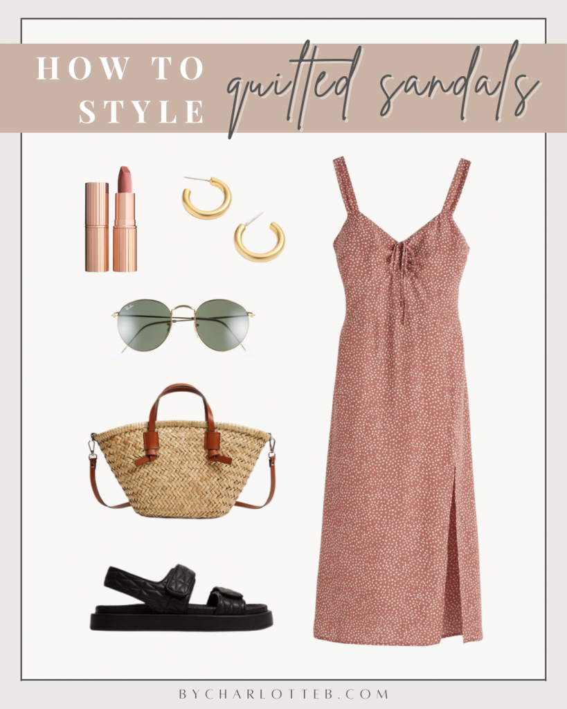 How to style quilted sandals
