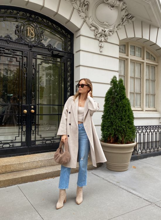 oversized beige coat outfit